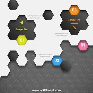 Infografía con forma de panel