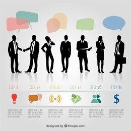 Infografía con los empresarios