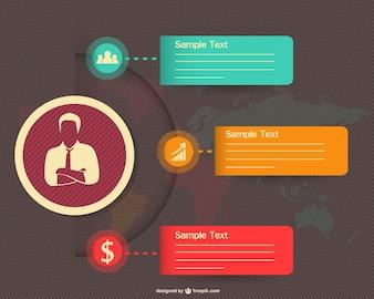 Infografía conceptual para los negocios