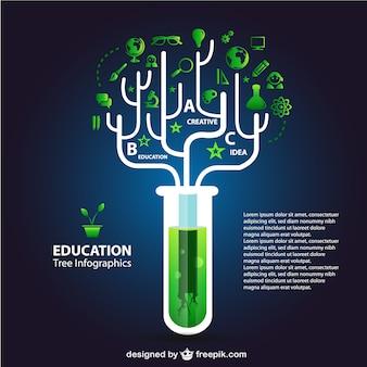 Infografía de educación ecológica
