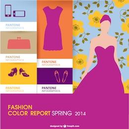 Infografía de moda a color