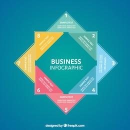Infografía de negocios cuadrada
