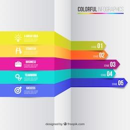 Infografía de negocios en estilo colorido