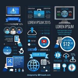 Infografía de negocios moderna