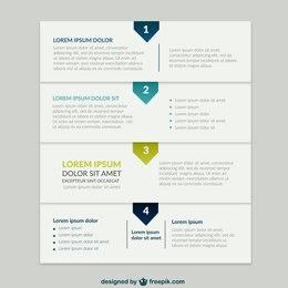 Infografía de presentación de negocios