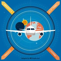 Infografía de viaje global