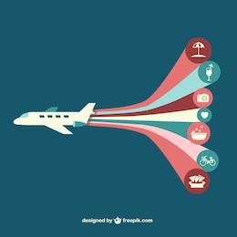 Infografía de viajes