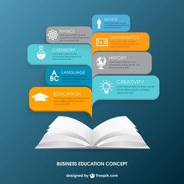 Infografía educación de negocios