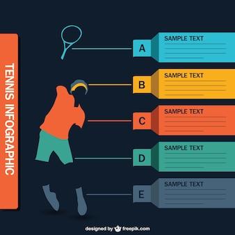Infografía jugador de tenis