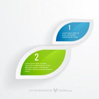 Infografía limpio en forma de la hoja