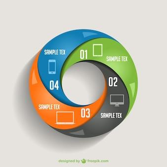 Infografía moderna circular
