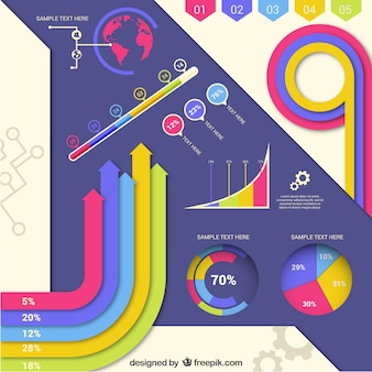 Infografía moderna colorida