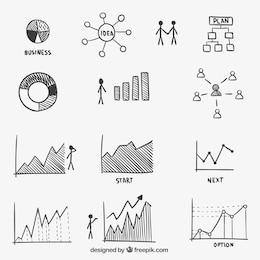 Infografía negocio esbozada