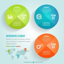 Infografía plantilla para los negocios