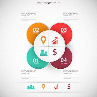 Plantilla de infografía plana