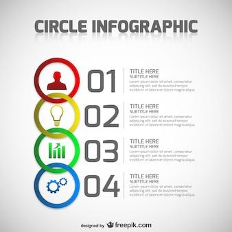 Plantilla de círculos de infografía