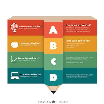 educación plantilla infografía