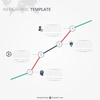 Infografía de plantilla con texto