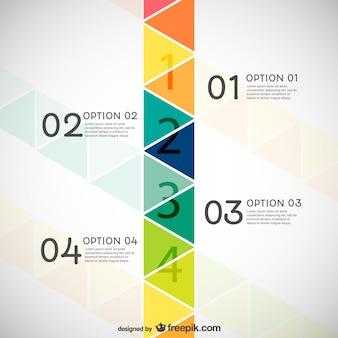 Infografía con triángulos