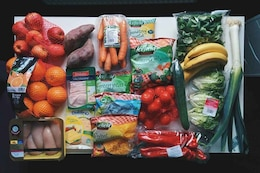 Ingredientes de la comida saludable