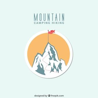 Insignia de camping de montaña