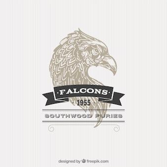 Insignia de halcón ilustrado