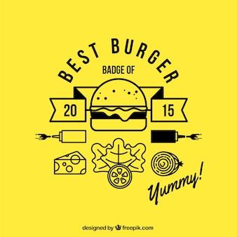 Insignia de mejor hamburguesa