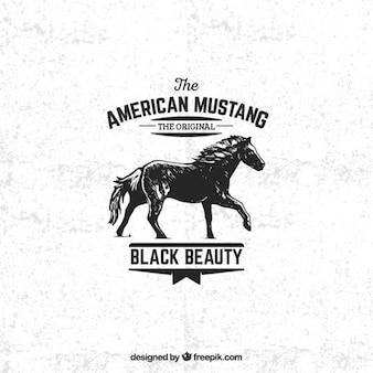 Insignia mustang americano