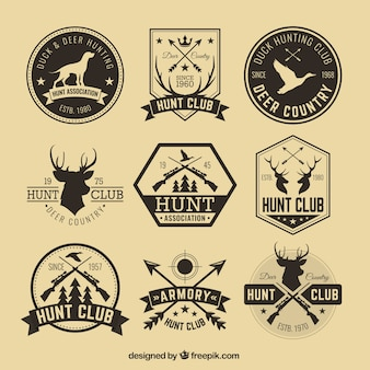 Insignias de caza hipster