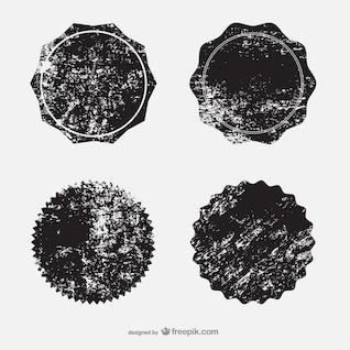 Insignias estampadas en tinta