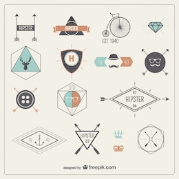 Insignias hipster