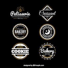 Insignias panadería en estilo retro