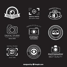 Insignias retro de fotografía
