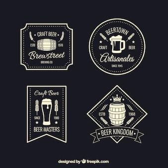 Insignias retro de la cerveza