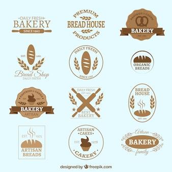 Insignias retro de panadería