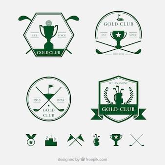 Insignias retro golf