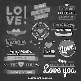 Insignias vintage de amor