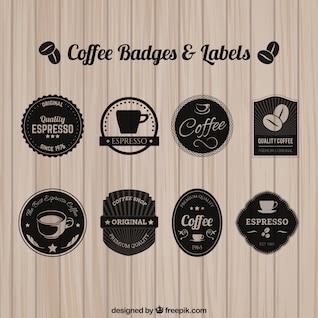 Insignias y etiquetas de café