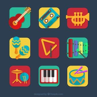 Instrumentos musicales coloridos