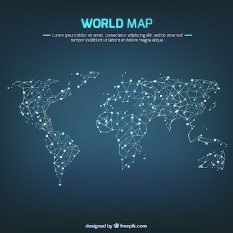 Interconexión de mapa del mundo