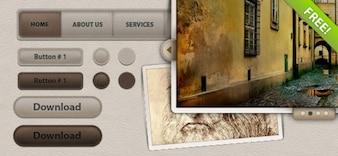 Interfaz de usuario Elementos de cuero Web Pack 2