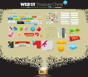 interfaz de usuario web cofre del tesoro