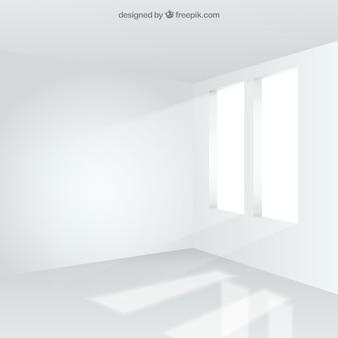 Interior de la sala blanca