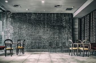 Interior de restaurante de decoración vintage