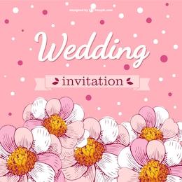 Invitación de boda con flores de cerezo