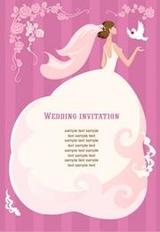 invitación de la boda ilustración vectorial