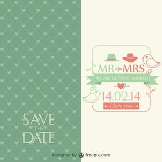 Invitación de la boda vintage, formato .ai