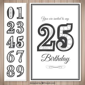 Invitación de la tarjeta de cumpleaños elegante