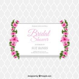Invitación floral de despedida de soltera
