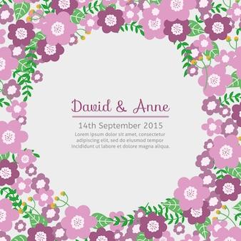 Invitación linda floral de boda